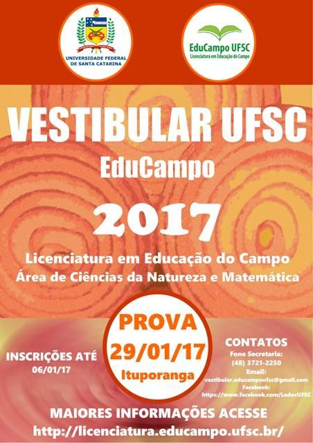 Curso de Licenciatura em Educação do Campo será oferecido em 2017 pela Universidade Federal de Santa Catarina na Região da Cebola