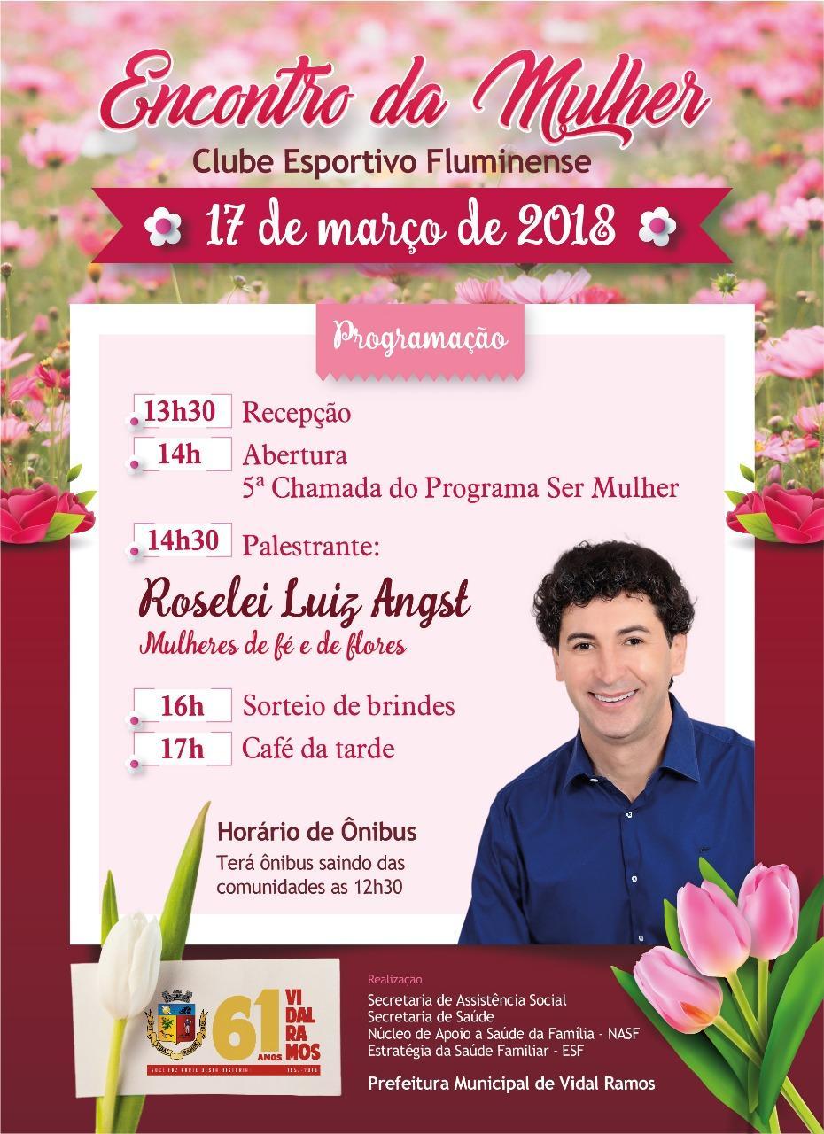 Definida programação do Dia Internacional da Mulher em Vidal Ramos