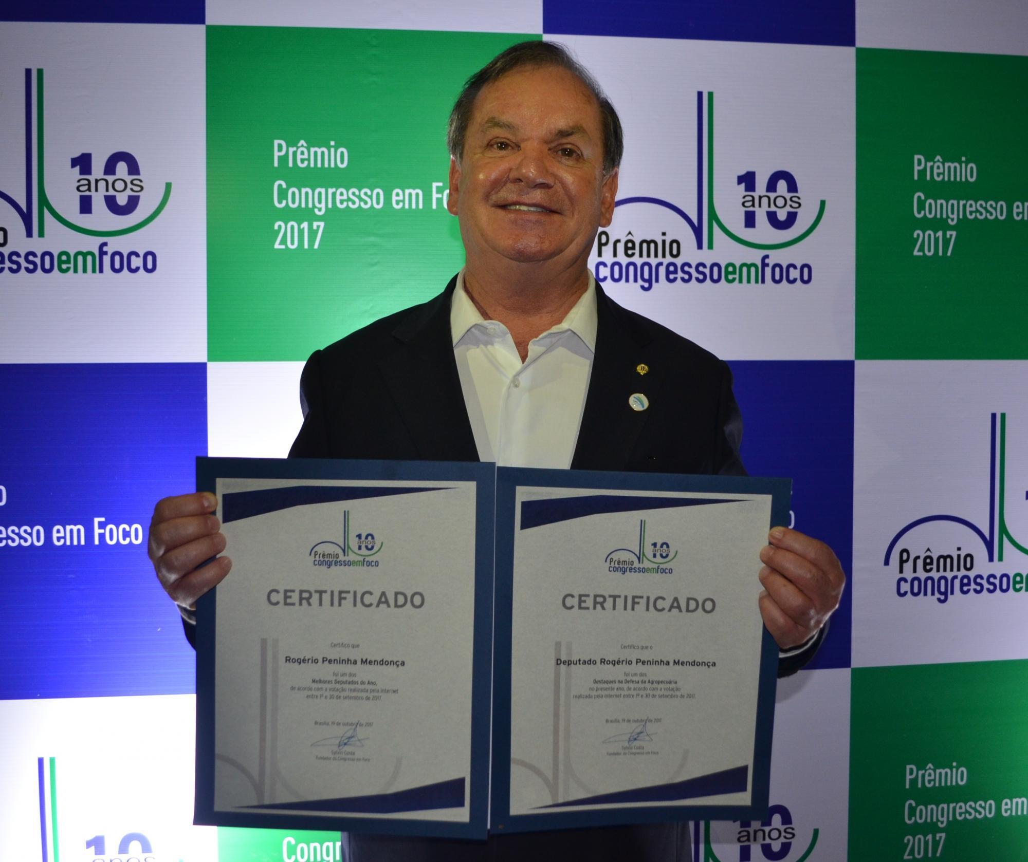 Deputado Peninha é o primeiro catarinense a receber o Oscar da Política