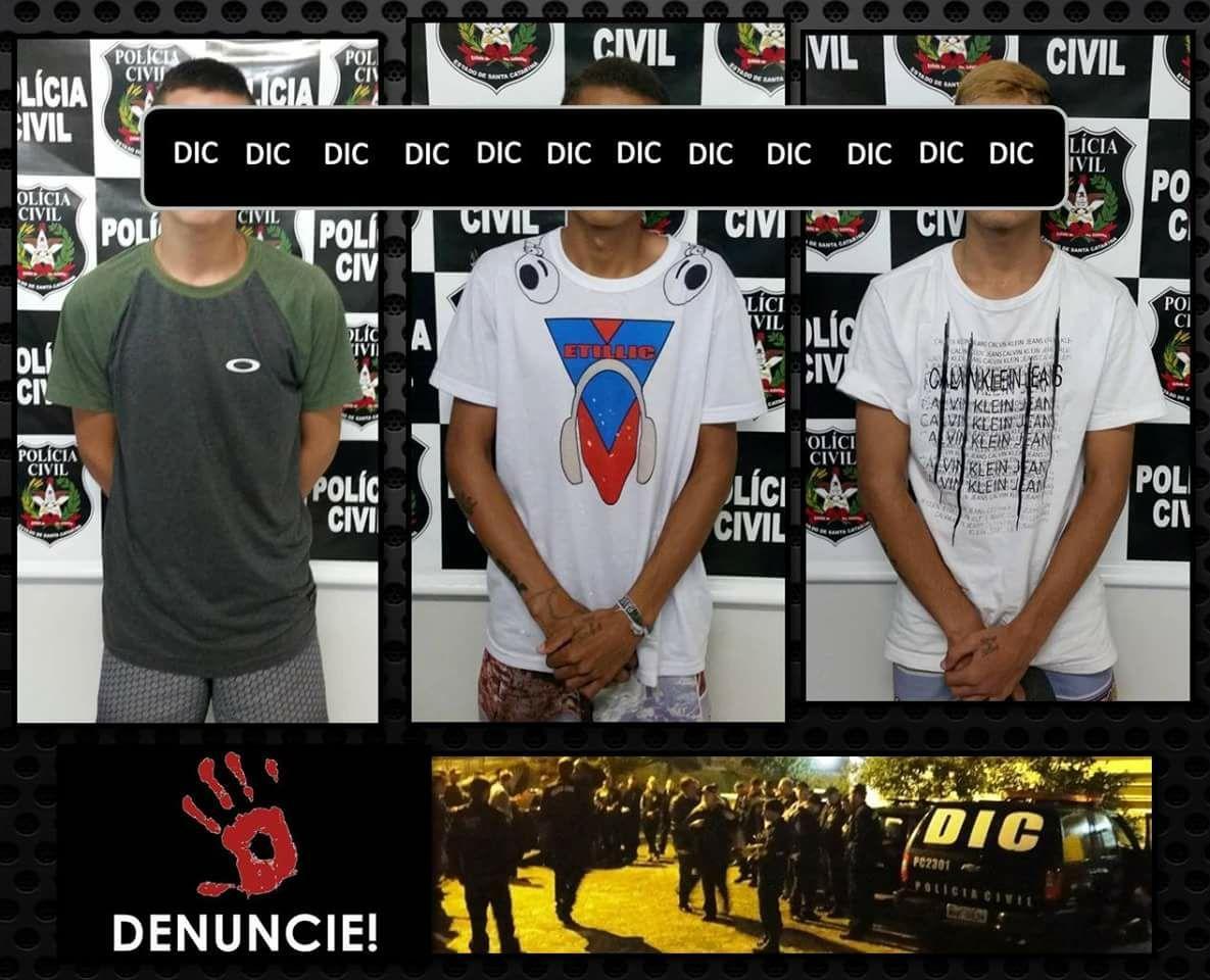 DIC de Rio do Sul apreende suspeitos de homicídio