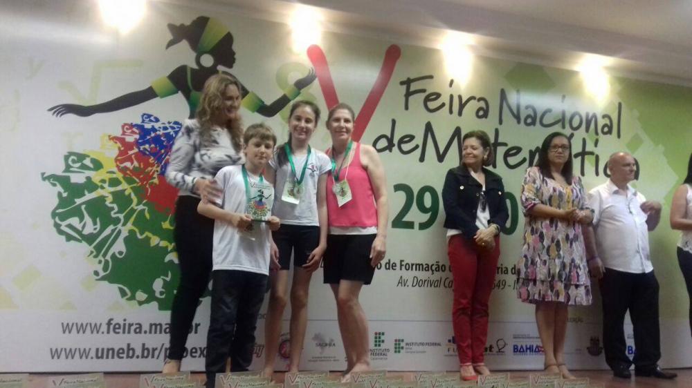 EEB Bertino Silva recebe título Destaque na 5ª Feira Nacional de Matemática