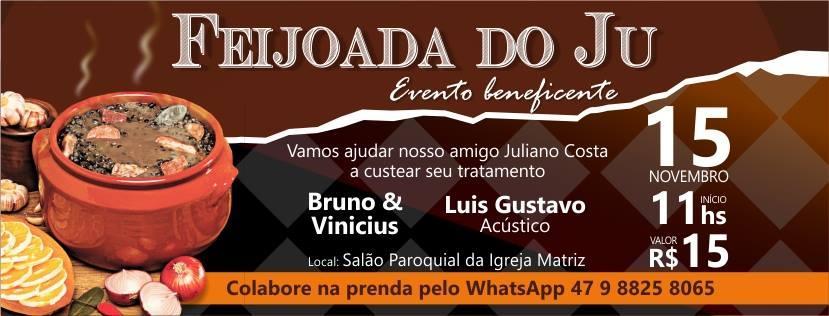 Feijoada beneficente será realizada nesta quarta em Ituporanga