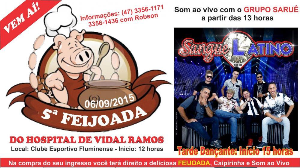Feijoada em prol do Hospital de Vidal Ramos será realizada neste final de semana