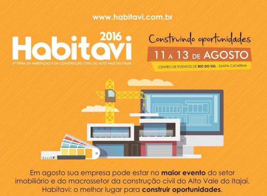 Feira de Habitação e da Construção Civil do Alto Vale do Itajaí será realizada em Rio do Sul