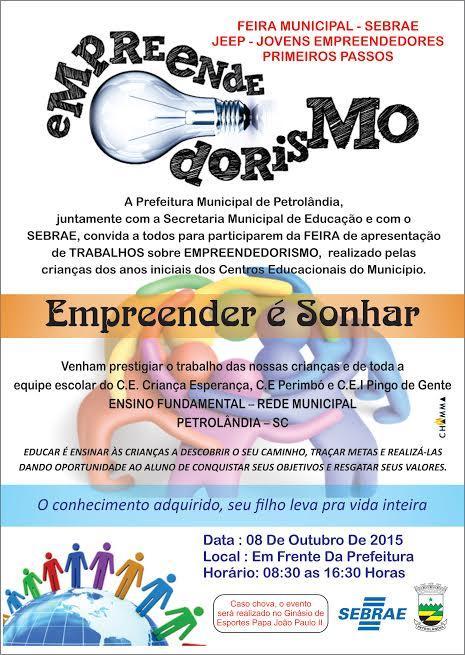 Feira do programa Jovens Empreendedores Primeiros Passos ocorre em outubro em Petrolândia