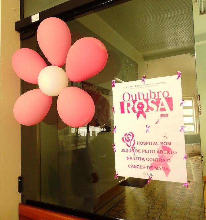 Hospital Bom Jesus adere ao movimento Outubro Rosa e promove campanha de conscientização ao câncer de mama