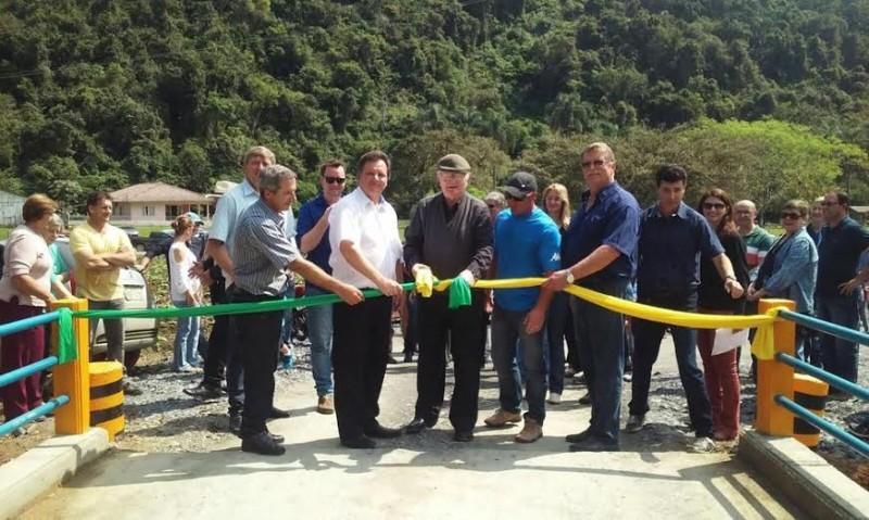 Inaugurada ponte Pe. Renatus Boing em Vidal Ramos