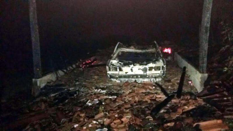 Incêndio destrói rancho e veículo em Presidente Getúlio