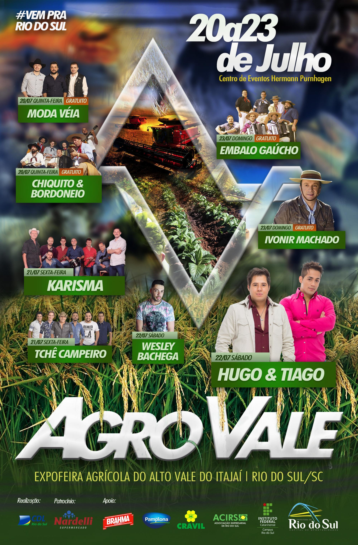 Ingressos para os shows da Agro Vale em Rio do Sul já estão à venda