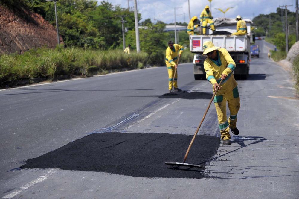 Iniciada operação tapa buracos na SC-350 entre Aurora e Rio do Sul
