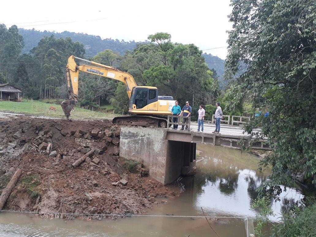 Ituporanga recebe recursos para recuperação de trechos danificados com chuvas de junho