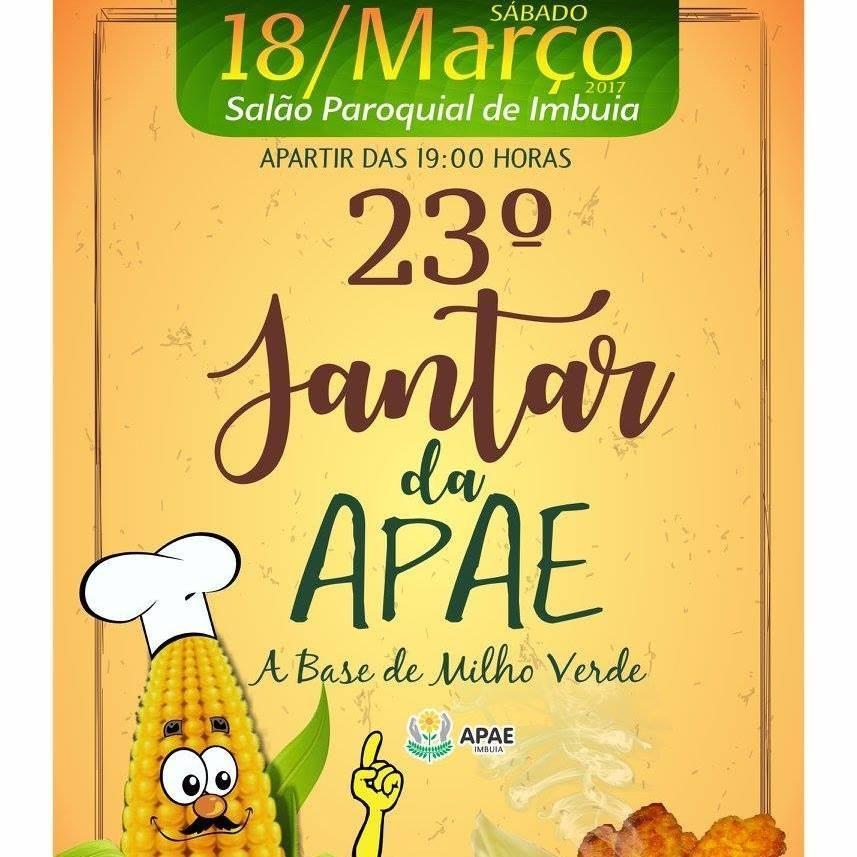 Jantar a base de milho verde será realizado em Imbuia
