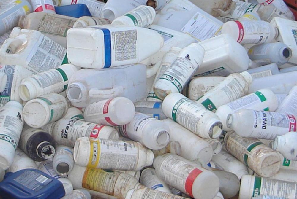 Mais de um milhão de embalagens vazias de agrotóxicos foram destinadas para a central de recebimentos de Aurora apenas nesse anos de 2016