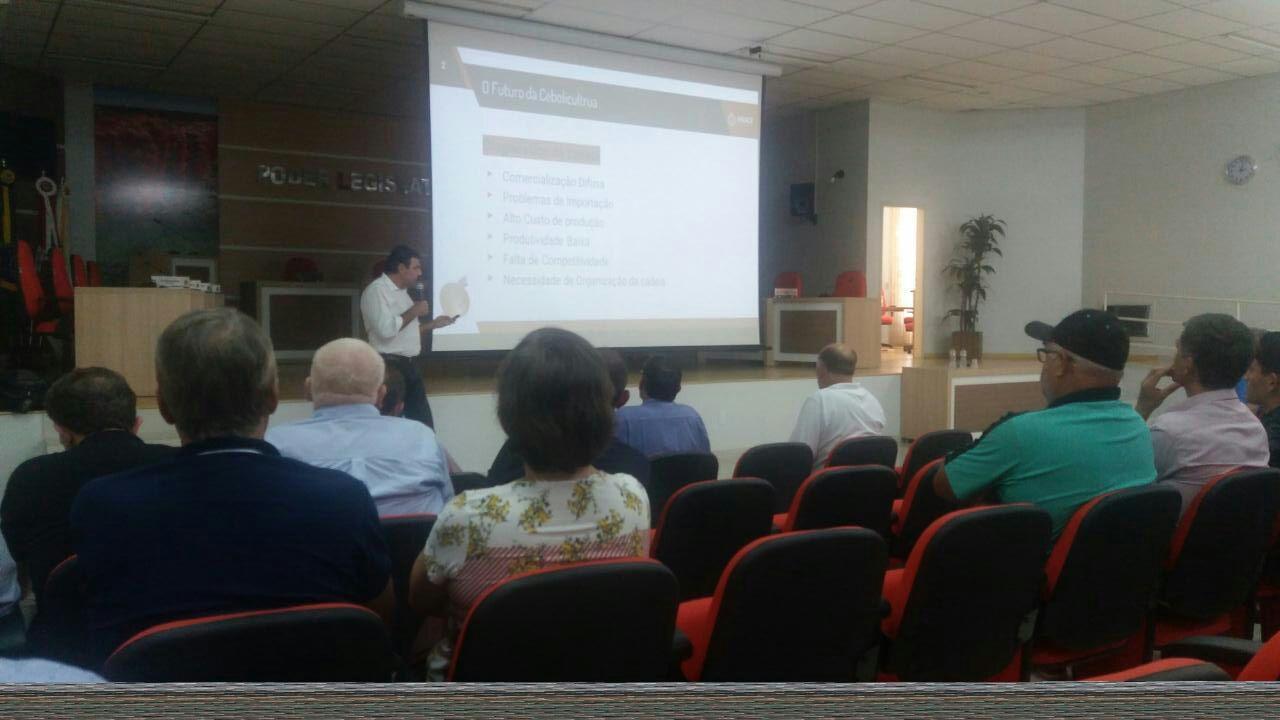 Mercado nacional e mundial da cebola foi destaque em reunião, em Ituporanga