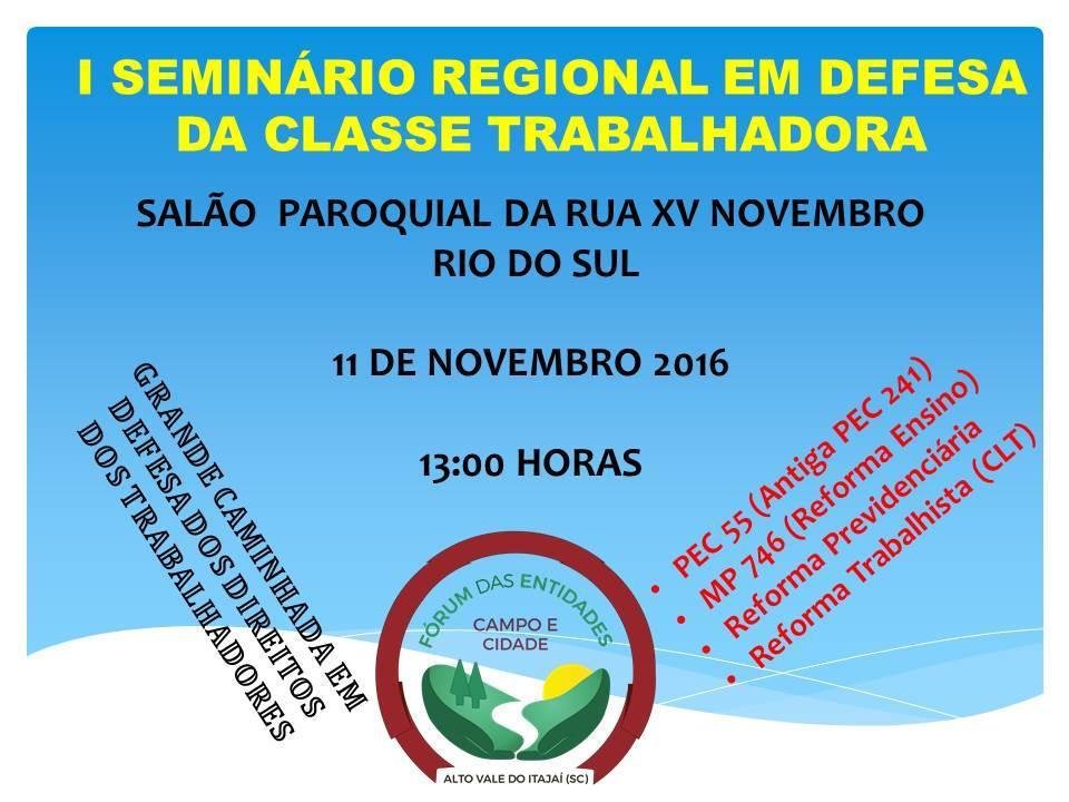 Mobilização nacional deve reunir pelo menos 1.500 pessoas em Rio do Sul