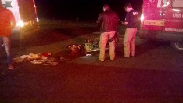 Moto furtada em Atalanta é recuperada após acidente na BR-470 em Lontras