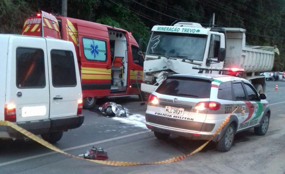 Motociclista morre em acidente em Trombudo Central