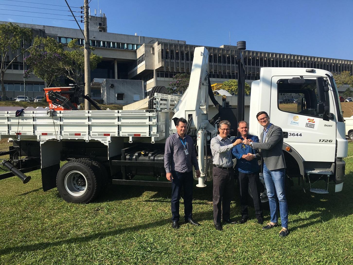 Novo caminhão deve dar mais agilidade ao atendimento da Celesc no Alto Vale