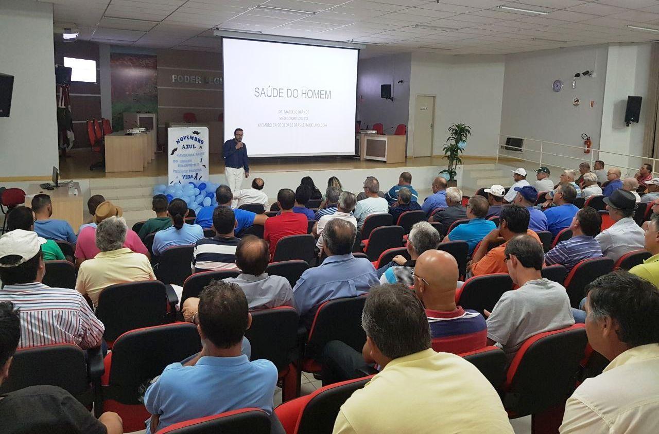 Palestra com tema Saúde do Homem reúne mais de 100 pessoas em Ituporanga