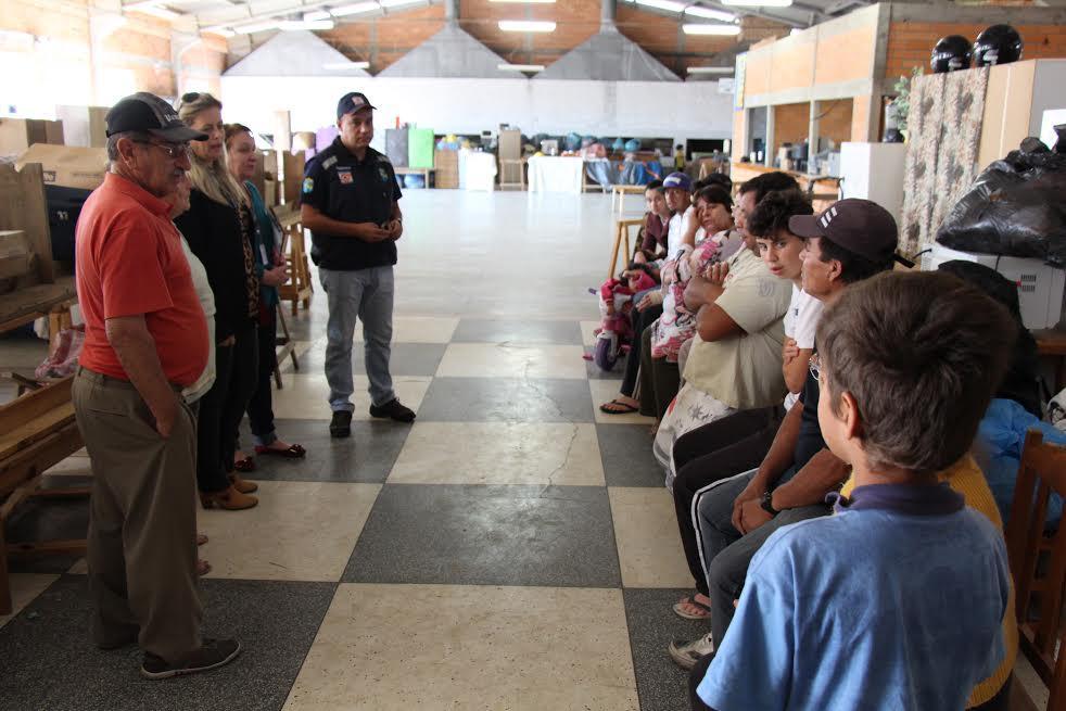 Pessoas abrigadas podem voltar para suas casas em Rio do Sul