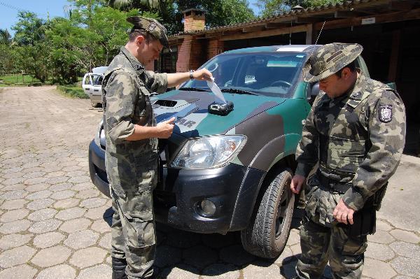 Policia Ambiental do Alto Vale faz fiscalização educativa na Região da Cebola