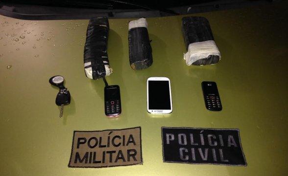 Polícia Civil prende dupla com 2 kg de maconha na BR-282, em Alfredo Wagner