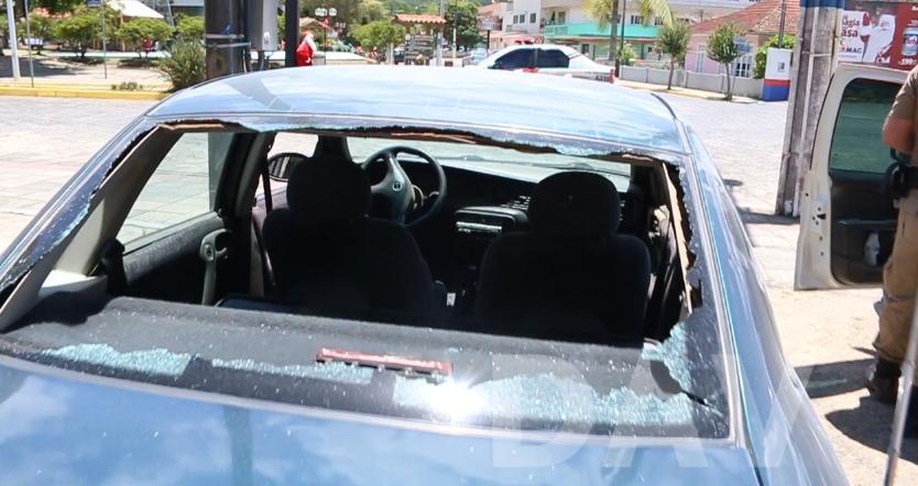 Polícia Militar prende duas pessoas após fuga e troca de tiros, em Agrolândia