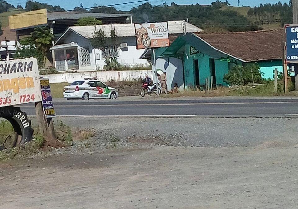 Polícia Militar recupera moto furtada em Ituporanga