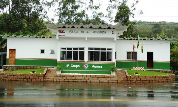 """Policia Militar Rodoviária de Aurora fiscaliza excesso de velocidade e pede atenção na """"Curva do Fuck"""""""