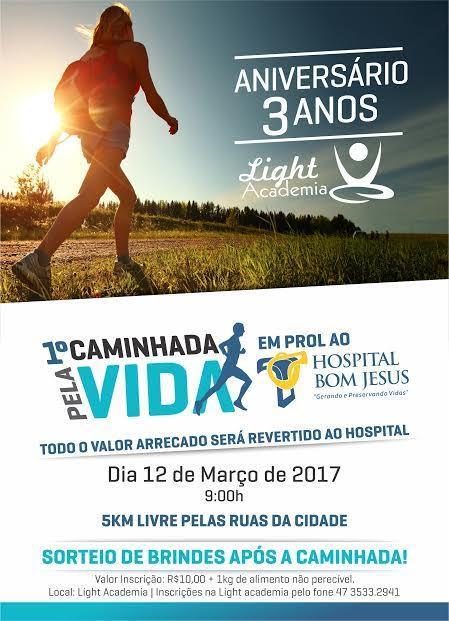 Primeira caminhada pela vida será realizada neste domingo em Ituporanga