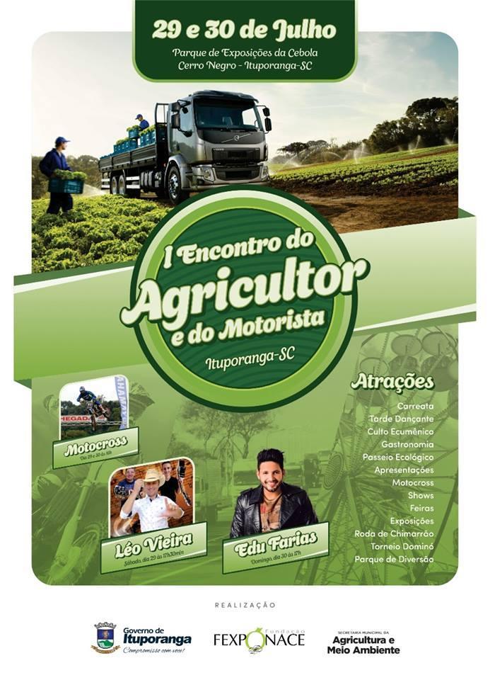 Primeiro Encontro do Agricultor e motorista será realizado neste final de semana em Ituporanga