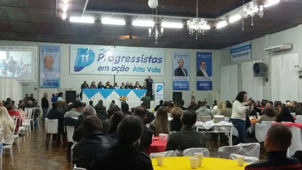 Progressistas do Alto Vale lançam pré-candidatos a deputados federal e estadual para as eleições de outubro