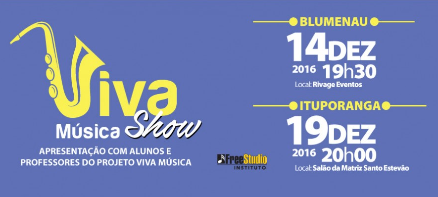 Projeto Viva Música faz apresentação nesta segunda em Ituporanga