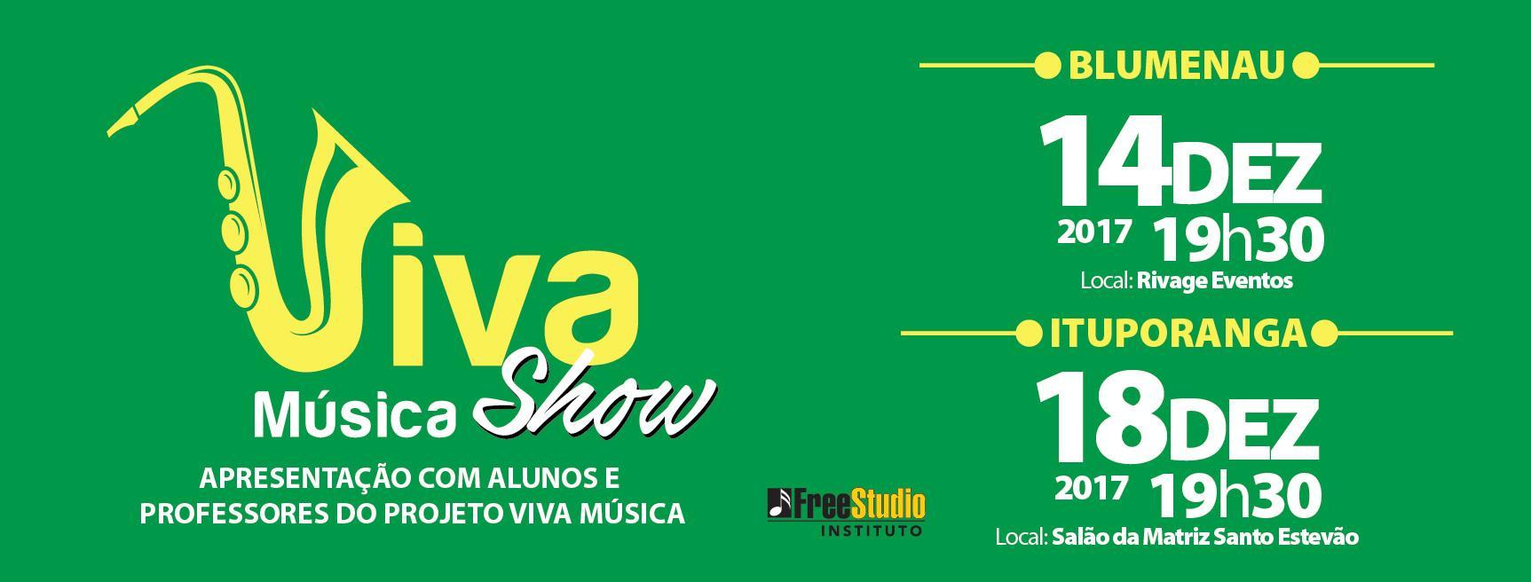 Projeto Viva Música terá apresentação final nesta segunda-feira em Ituporanga