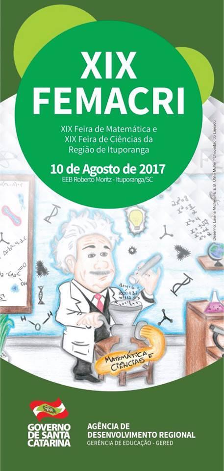 Regional de Ituporanga realizará a XIX Feira de Matemática e Ciências