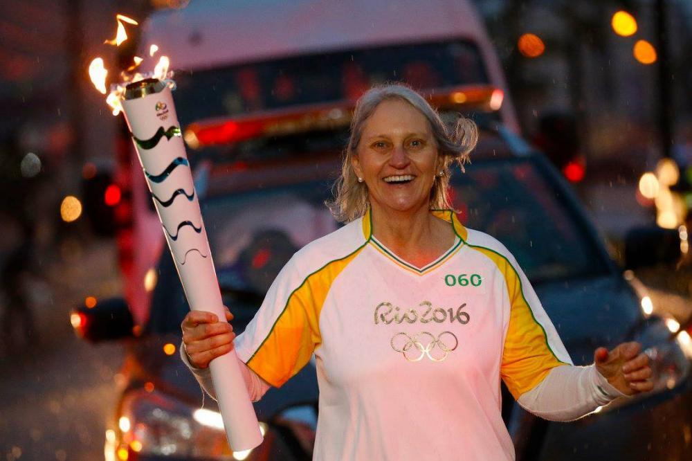Tocha Olímpica teve condutora da Região da Cebola