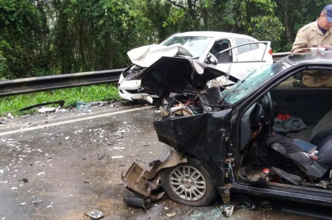 Três pessoas morrem em dois acidentes na BR-470 em Pouso Redondo