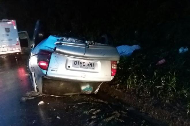 Uma pessoa morre e três ficam feridas em acidente na BR-470 em Ibirama