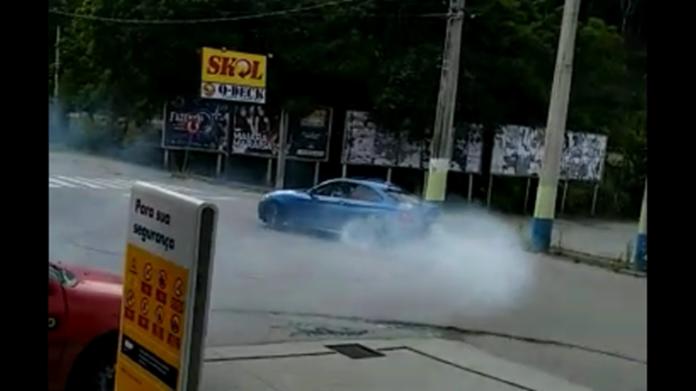 Vídeo mostra motorista fazendo manobras perigosas, em Trombudo Central