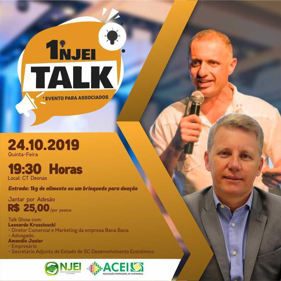 Núcleo de Jovens Empreendedores de Ituporanga promove primeiro Talk Show sobre empreendedorismo