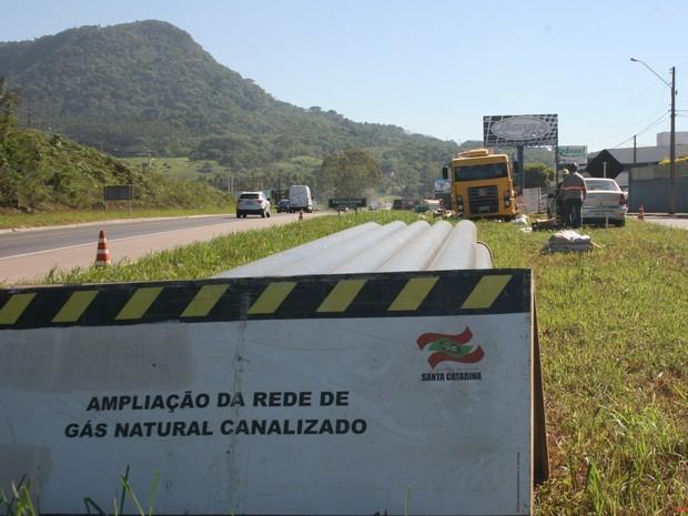Obras da SC Gás vão atingir ruas do Canta Galo e do Centro em Rio do Sul