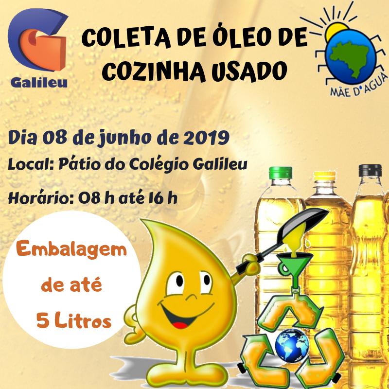 ONG Mãe d'Água e Colégio Galileu promovem campanha de recolhimento de óleo de cozinha em Ituporanga