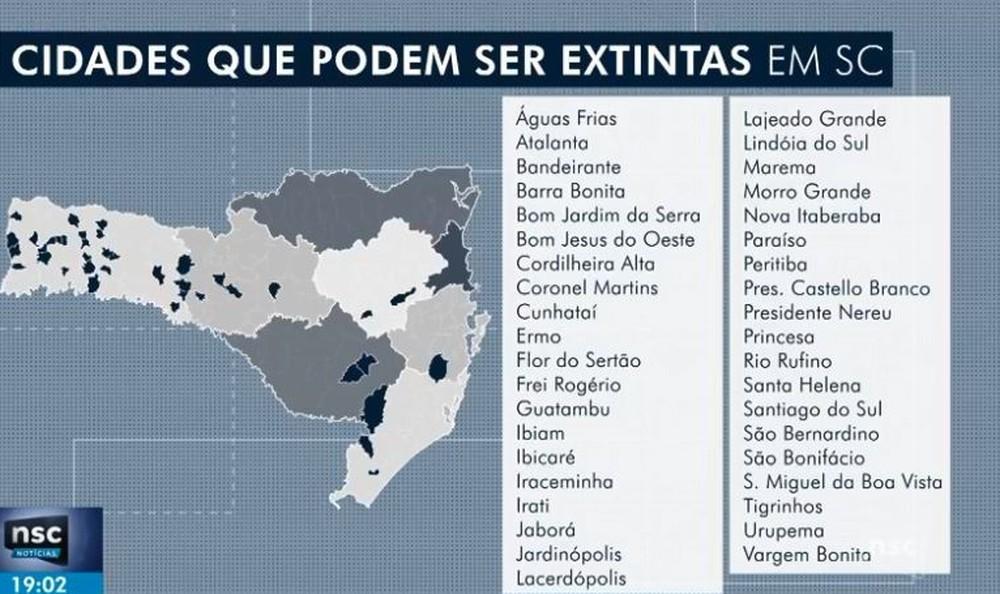Pacto federativo: mais de 30 municípios de SC podem ser extintos pela proposta