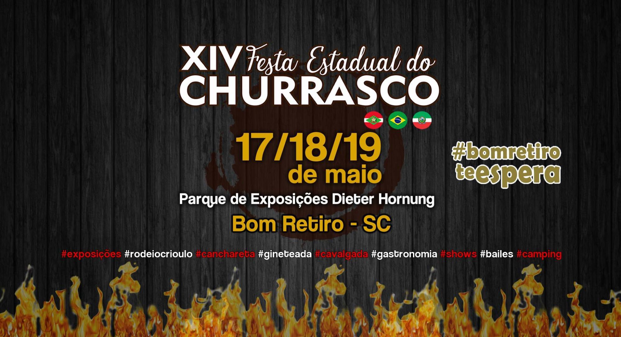 Parque de Exposições de Bom Retiro já está preparado para a Festa do Churrasco