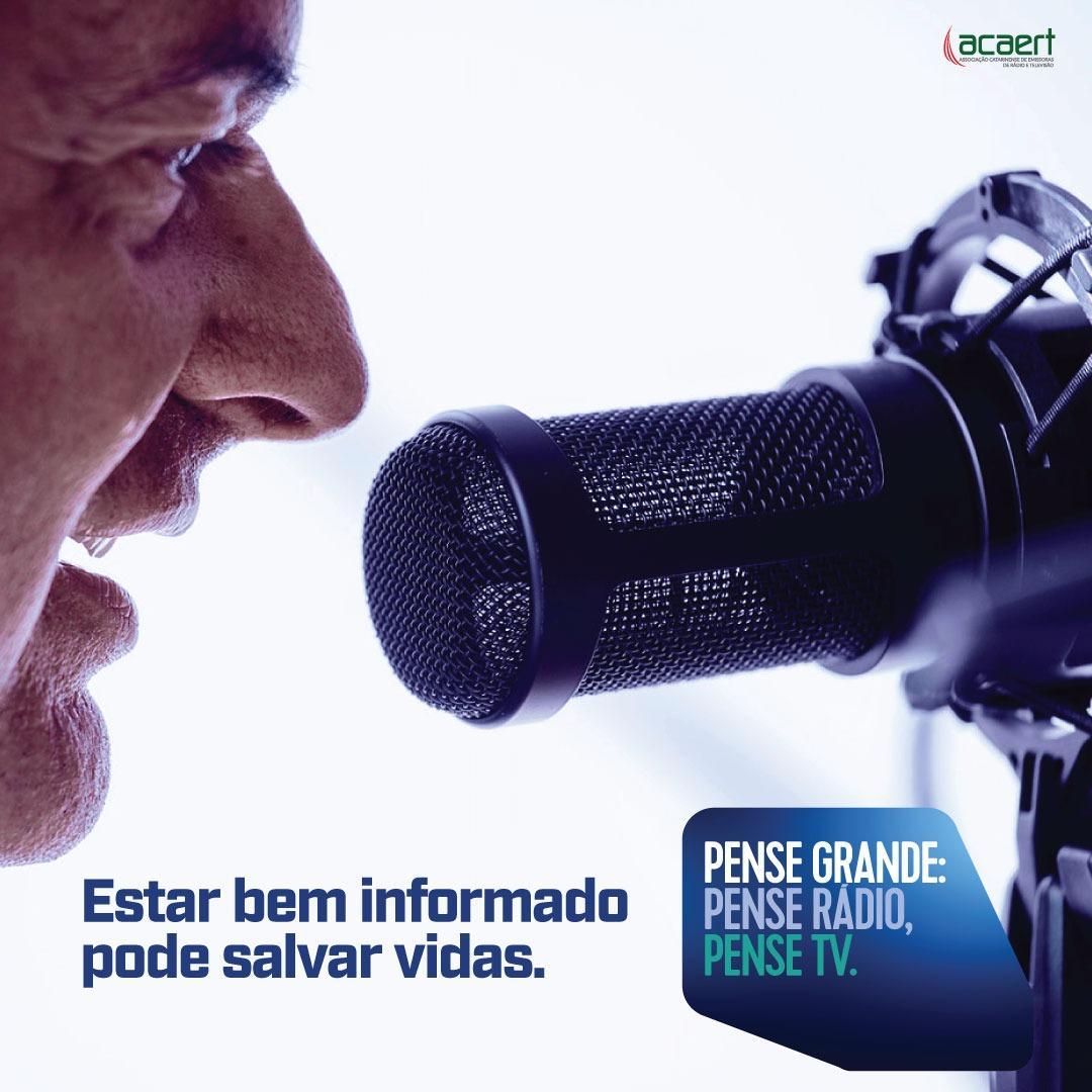 PENSE GRANDE: Movimento da ACAERT destaca o rádio e a tv no combate à pandemia do coronavírus