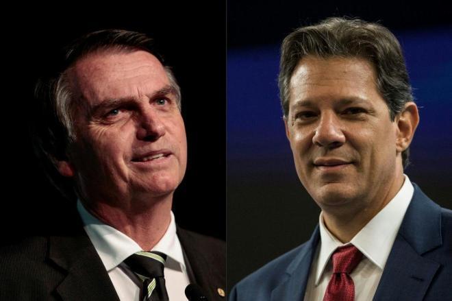 Pesquisa Datafolha para presidente: Bolsonaro tem 56% dos votos válidos e Haddad, 44%
