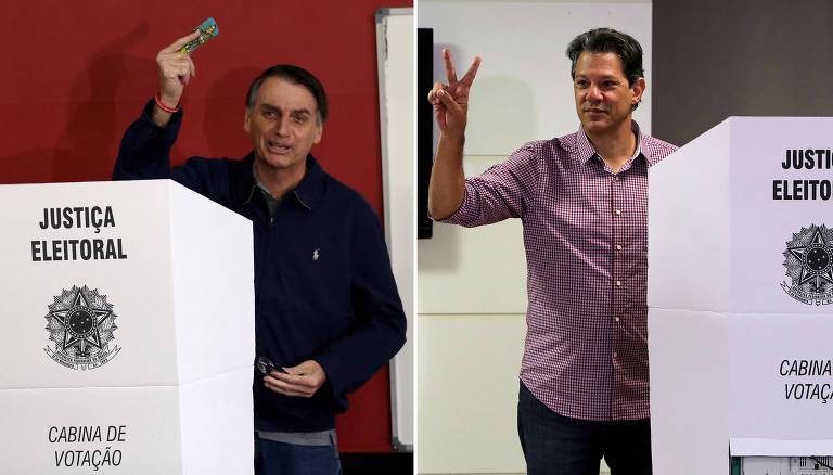 Pesquisa Datafolha para presidente: Bolsonaro tem 59% dos votos válidos e Haddad, 41%