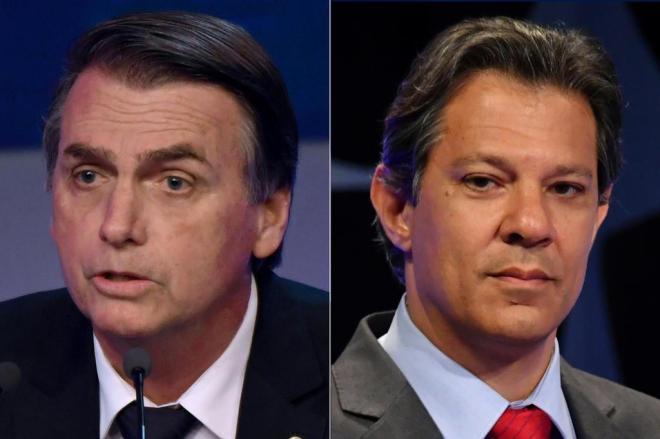 Pesquisa Ibope para presidente: Bolsonaro tem 57% dos votos válidos e Haddad, 43%