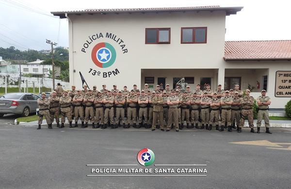 Policiais militares do Alto Vale se formam no Curso de Rádio Patrulhamento