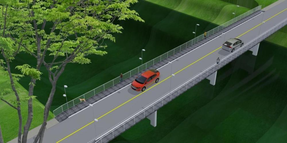 Ponte no Centro de Ituporanga ficará interditada por duas semanas para construção de passarelas para pedestres